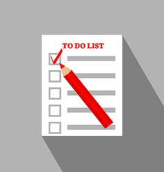 To Do List Flat Icon Design vector image