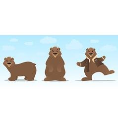 Bear Character Set vector image vector image