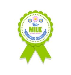 Bio milk rosette vector image vector image