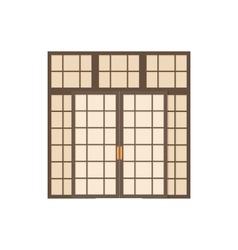 Double door icon cartoon style vector image