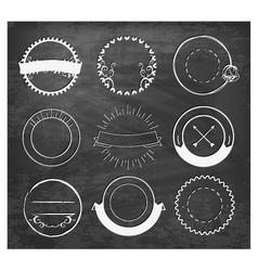 Editable Vintage Badges and Labels on Chalkboard vector image