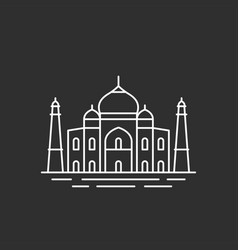 famous indian landmark vector image vector image