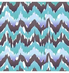 Seamless Ikat Chevron Background Pattern blue cool vector image