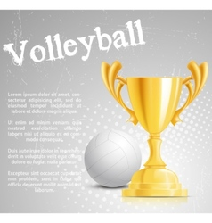 design with cup and ball vector image vector image