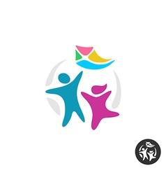 Happy people logo vector image vector image