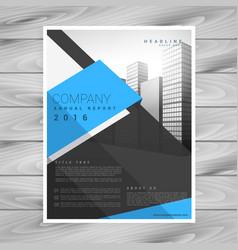 modern business brochure design template in blue vector image vector image