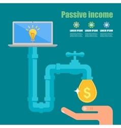 Passive income concept Cartoon vector image