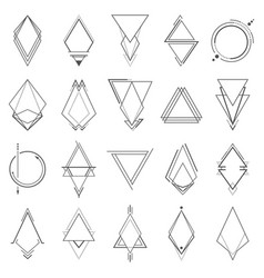 set of minimalistic geometric elements vector image