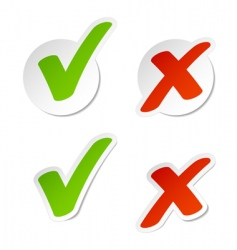 check mark stickers vector image vector image