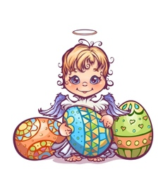 cute angel ant set Easter vector image