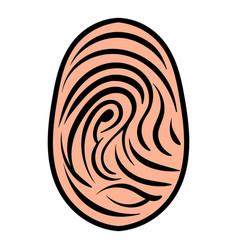 fingerprint icon icon cartoon vector image