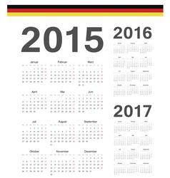 Set of German 2015 2016 2017 year calendars vector image vector image