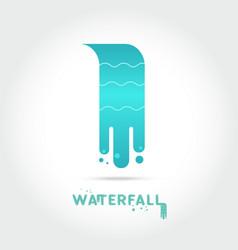 waterfall logo design vector image
