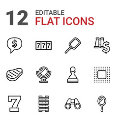 12 reflection icons vector