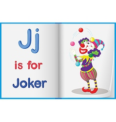 A picture of joker in book vector
