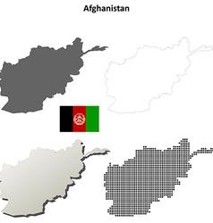 Afghanistan outline map set vector