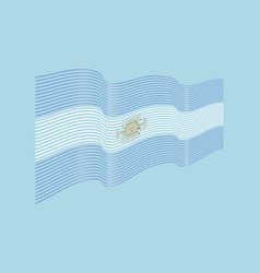 argentina flag on blue background wave str vector image