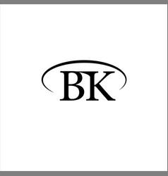 B k joint letter logo icon design vector