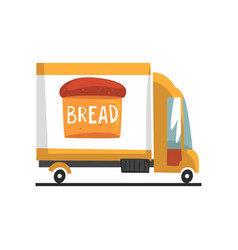 bakery delivery truck on a vector image