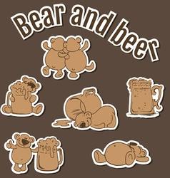 BearBeer02 vector image