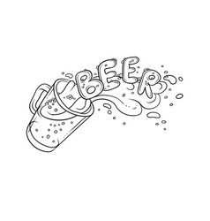 Black and white sketch pint vector