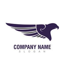 Blue eagle logo vector