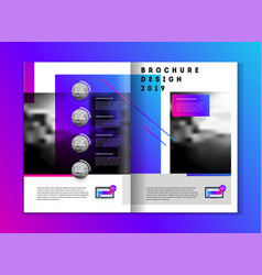 brochure design for business vector image