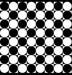 checkered pattern with squares and circles art vector image