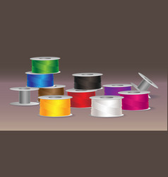 colorful threads vector image