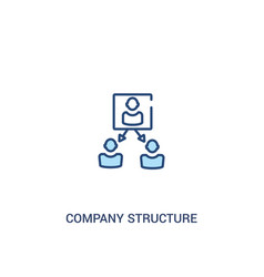 Company structure concept 2 colored icon simple vector