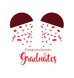 Congratulations graduates template design vector