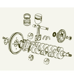 Crankshaft assembly vector