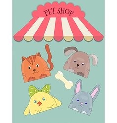 Cute pet shope vector