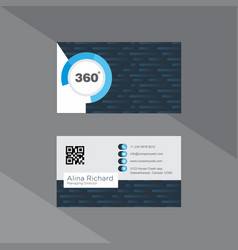 Cutting edge business card in denim and sapphire vector