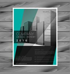 Dark business brochure design with geometric vector