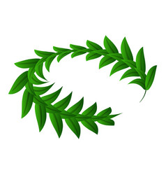 decoration green laurel icon isometric style vector image