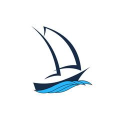 Design logo concept shipping freight services vector
