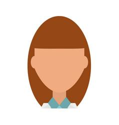 Doctor profile cartoon vector