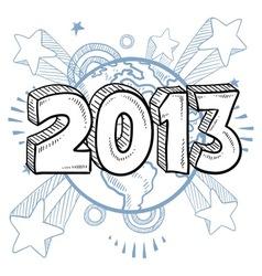 doodle pop new year vector image