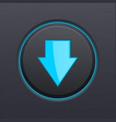 Down arrow black button vector
