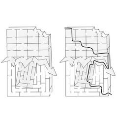 easy chocolate maze vector image