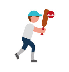 Ethlete practicing cricket avatar vector