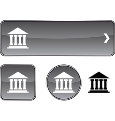 Exchange button set vector