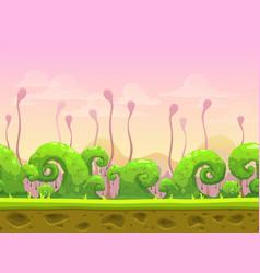 Fantasy seamless landscape vector