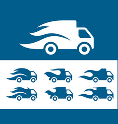 fast gelivery icon set vector image