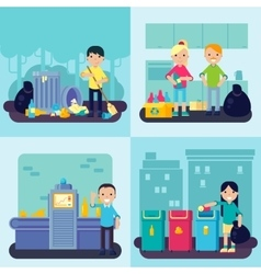 Flat Waste Concept vector