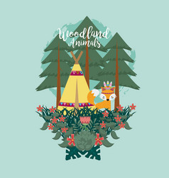 Fox woodland animals woodland animals vector