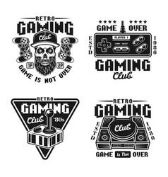 Gaming club set badges emblems labels vector