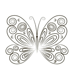 Hand Drawn Butterfly isolated vector image