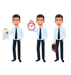 Handsome businessman in office style clothes vector